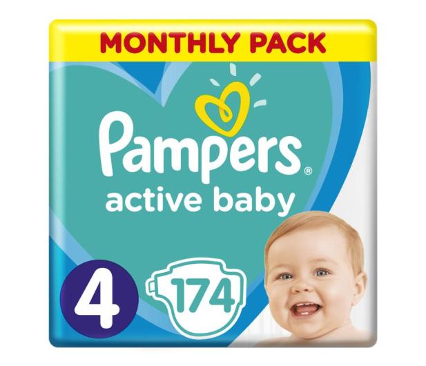 Pampers Active Baby 4 Maxi 9-14kg 174szt Zapas na miesiąc - 472752 - zdjęcie