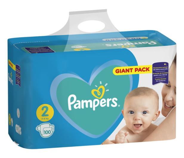 Pampers New Baby 2 Mini 4-8kg 100szt Zapas  - 474005 - zdjęcie
