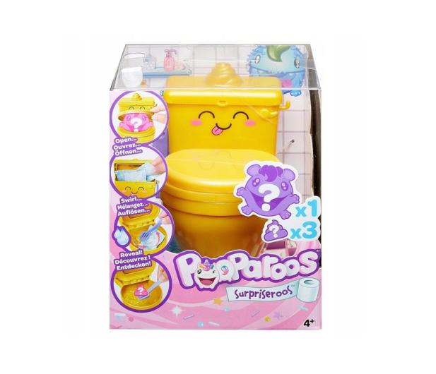 Mattel Pooparoos Toaleta żółta z niespodzianką  - 474039 - zdjęcie