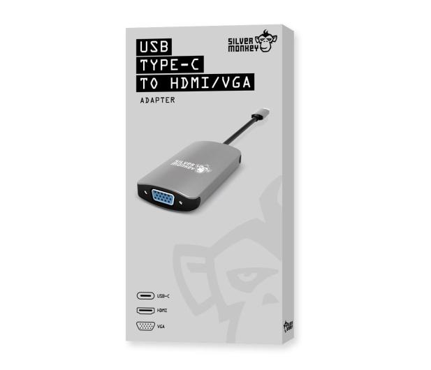 Silver Monkey Adapter USB-C - HDMI, VGA - 461268 - zdjęcie 3