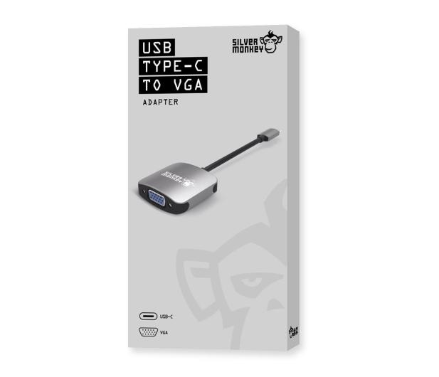 Silver Monkey Adapter USB-C - VGA - 461265 - zdjęcie 3