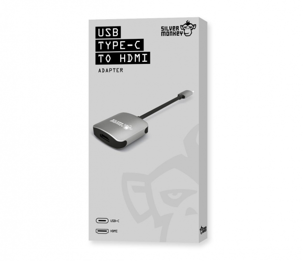 Silver Monkey Adapter USB-C - HDMI - 461266 - zdjęcie 3