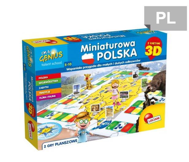 Lisciani Giochi Mały Geniusz Miniaturowa Polska 3D - 472428 - zdjęcie