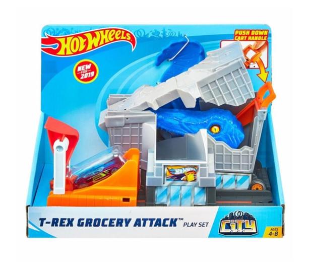 Hot Wheels City Zestaw Atak T-Rexa - 475631 - zdjęcie 4