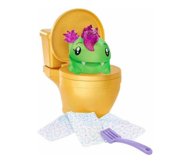 Mattel Pooparoos Toaleta żółta z niespodzianką  - 474039 - zdjęcie 4