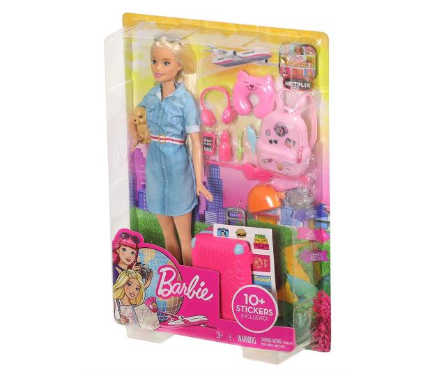 Barbie Lalka w podróży + akcesoria - 476426 - zdjęcie 7