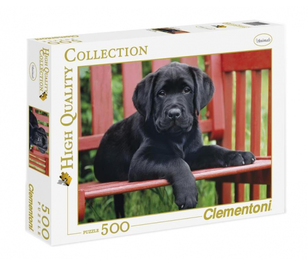 Clementoni Puzzle HQ  The Black dog - 417081 - zdjęcie
