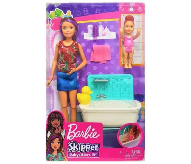 Barbie Skipper Zestaw Opiekunka z wanną - 476753 - zdjęcie 3