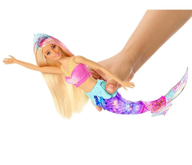 Barbie Dreamtopia Magiczna syrenka rusza i świeci ogonem - 471296 - zdjęcie 2