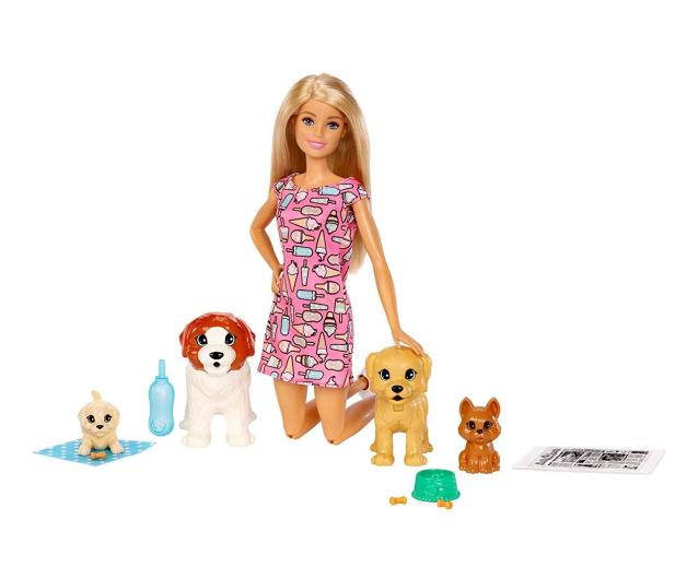 Barbie  Opiekunka piesków zestaw z lalką - 471305 - zdjęcie 4