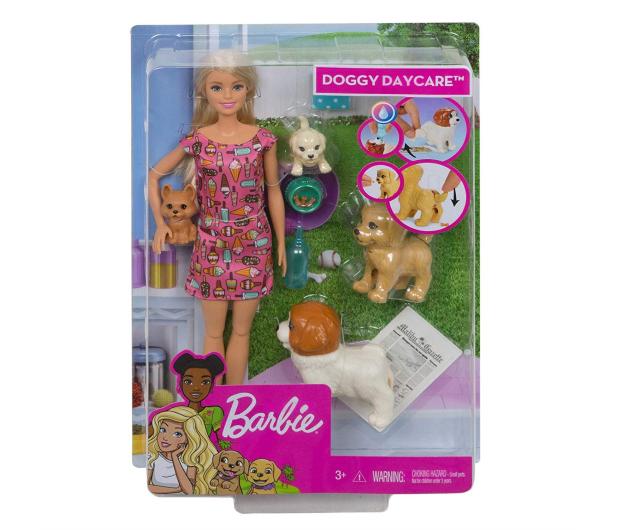 Barbie  Opiekunka piesków zestaw z lalką - 471305 - zdjęcie 8