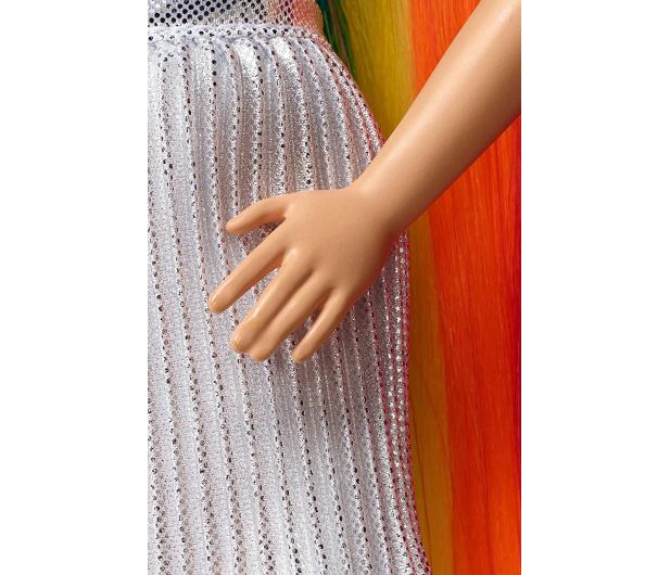 Barbie Błyszczące tęczowe włosy Lalka - 471309 - zdjęcie 6