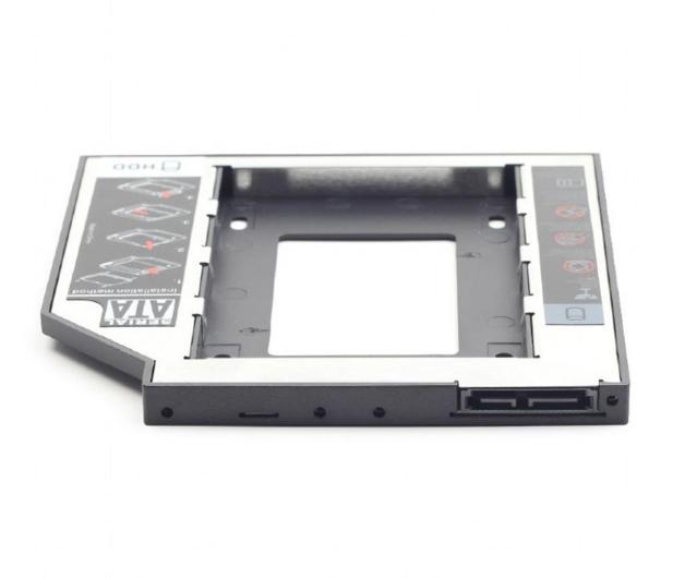 "Gembird Adapter 5.25"" do dysku 2.5"" (slot DVD 12.7mm) - 471278 - zdjęcie"