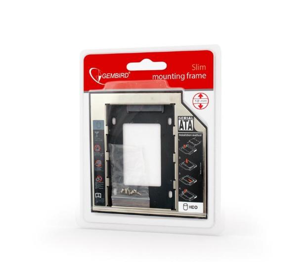 "Gembird Adapter 5.25"" do dysku 2.5"" (slot DVD 12.7mm) - 471278 - zdjęcie 5"