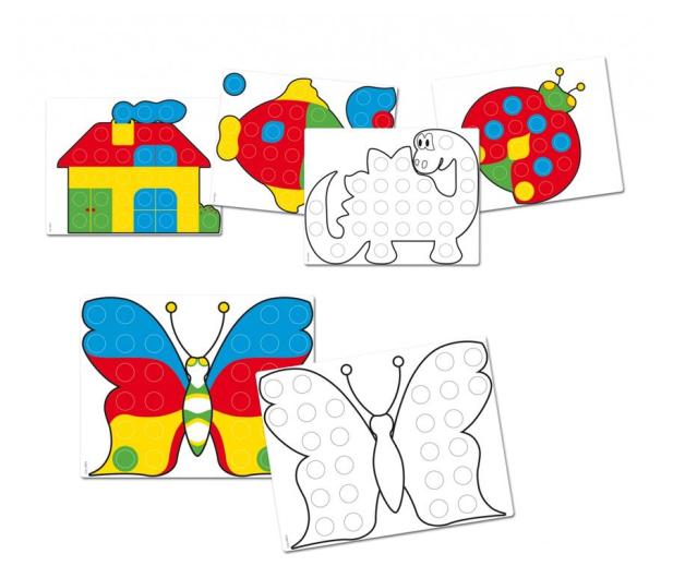 Quercetti Szablony Mozaika Fantacolor Junior Zestaw - 471359 - zdjęcie