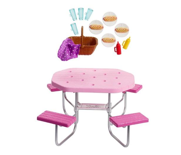 Barbie Mebelki ogrodowe Stół piknikowy - 471423 - zdjęcie 2