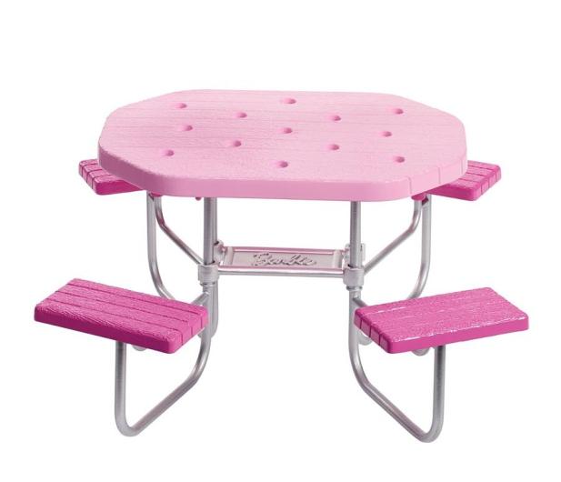 Barbie Mebelki ogrodowe Stół piknikowy - 471423 - zdjęcie 3
