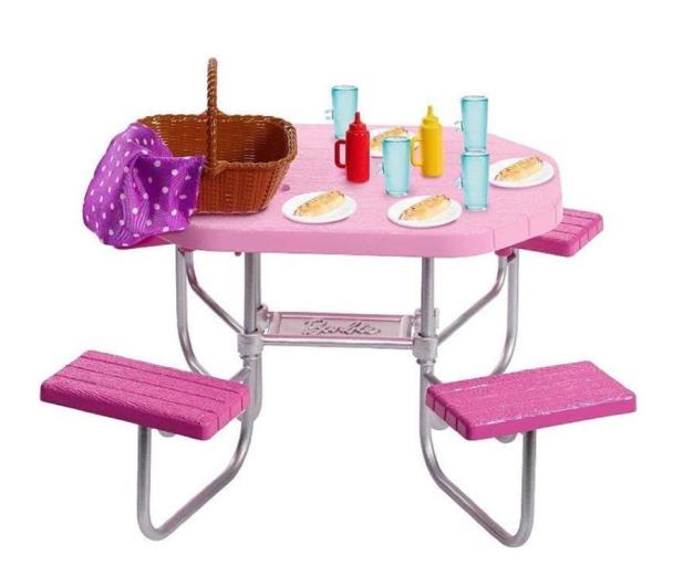 Barbie Mebelki ogrodowe Stół piknikowy - 471423 - zdjęcie