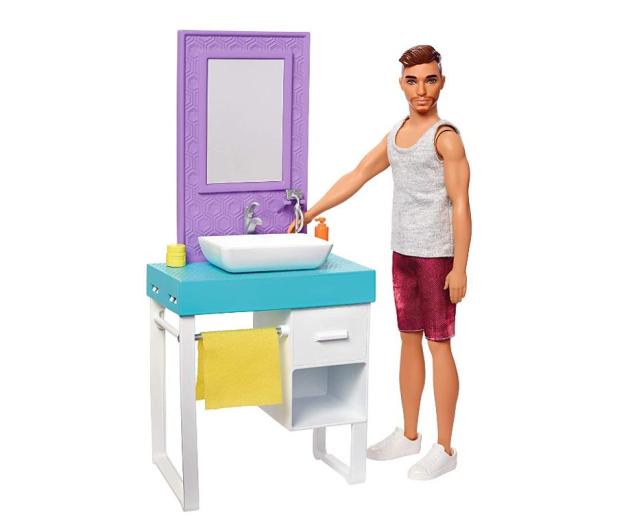 Barbie Ken zestaw z umywalką - 471448 - zdjęcie