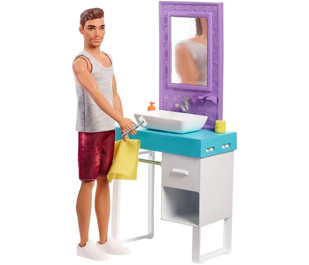 Barbie Ken zestaw z umywalką - 471448 - zdjęcie 5