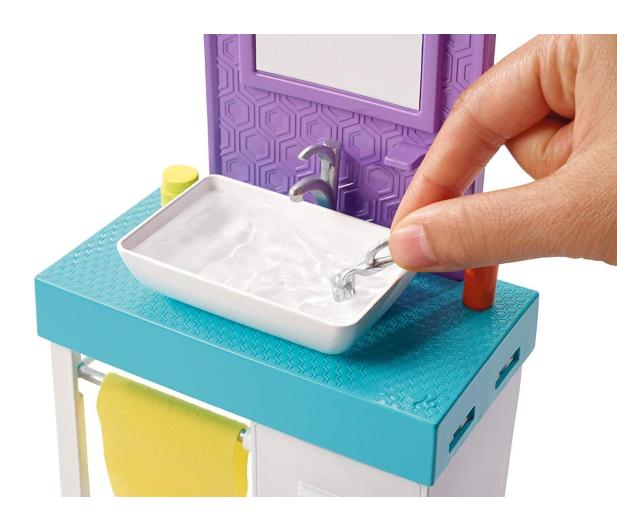 Barbie Ken zestaw z umywalką - 471448 - zdjęcie 6