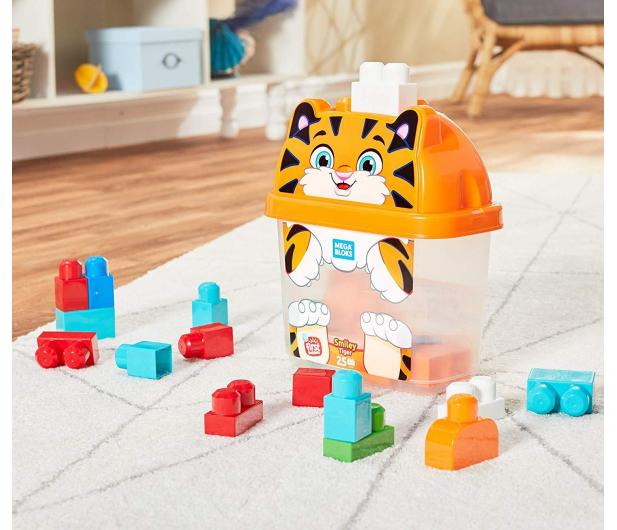Mega Bloks Pojemnik z klockami Tygrysek - 471609 - zdjęcie 3
