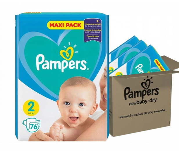 Pampers New Baby 2 Mini 4-8kg 228szt Zapas Na Miesiąc - 307956 - zdjęcie