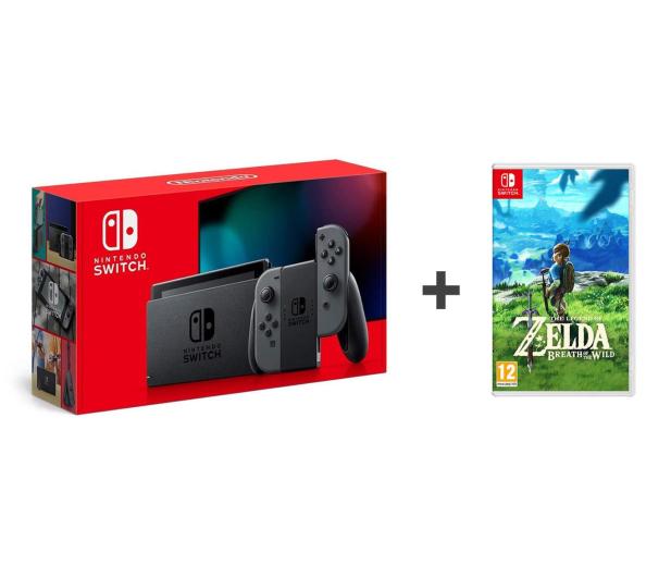Nintendo Switch Joy-Con Gray + Zelda: Breath of the Wild - 521190 - zdjęcie
