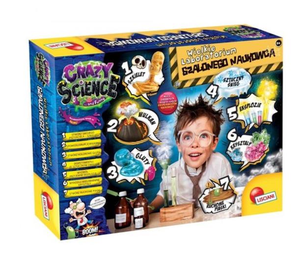 Lisciani Giochi Crazy Science Laboratorium szalonego naukowca  - 521581 - zdjęcie