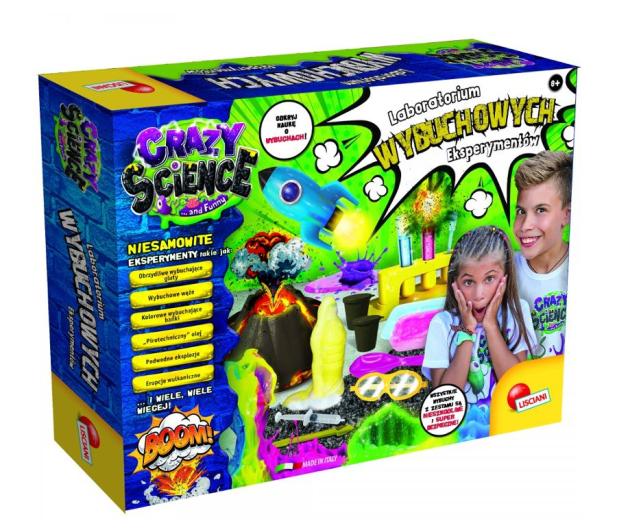 Lisciani Giochi Crazy Science Laboratorium wybuchowych eksperyment - 521584 - zdjęcie