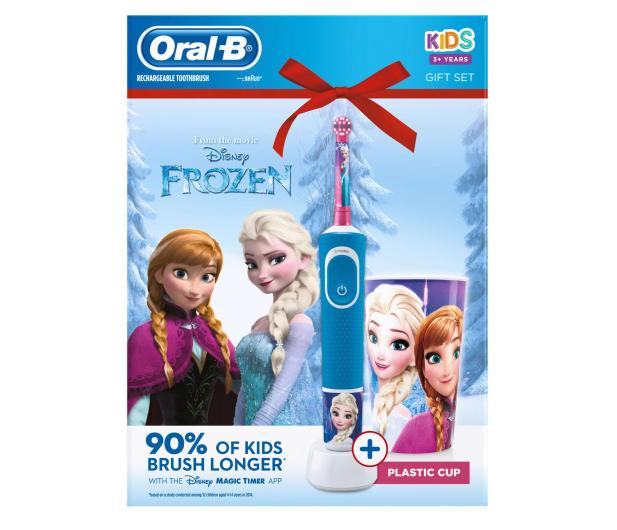 Oral-B D100 Kids Frozen + Kubek - 522885 - zdjęcie 4