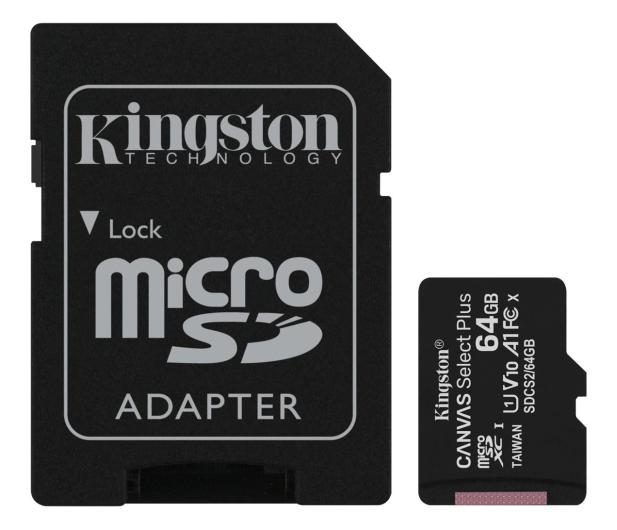 Kingston 64GB microSDXC Canvas Select Plus 100MB/s - 522794 - zdjęcie