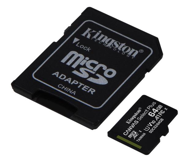 Kingston 64GB microSDXC Canvas Select Plus 100MB/s - 522794 - zdjęcie 2