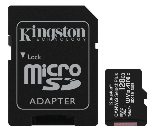 Kingston 128GB microSDXC Canvas Select Plus 100MB/s - 522795 - zdjęcie
