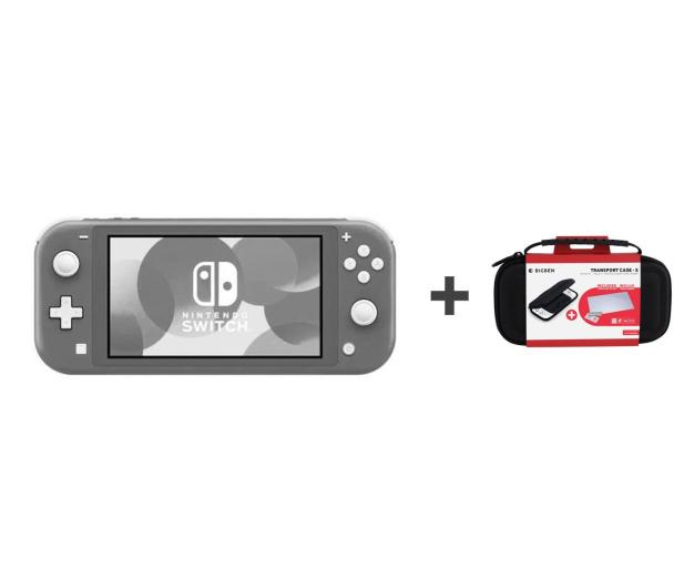 Nintendo Switch Lite (Szary) + Etui + Szkło - 520185 - zdjęcie