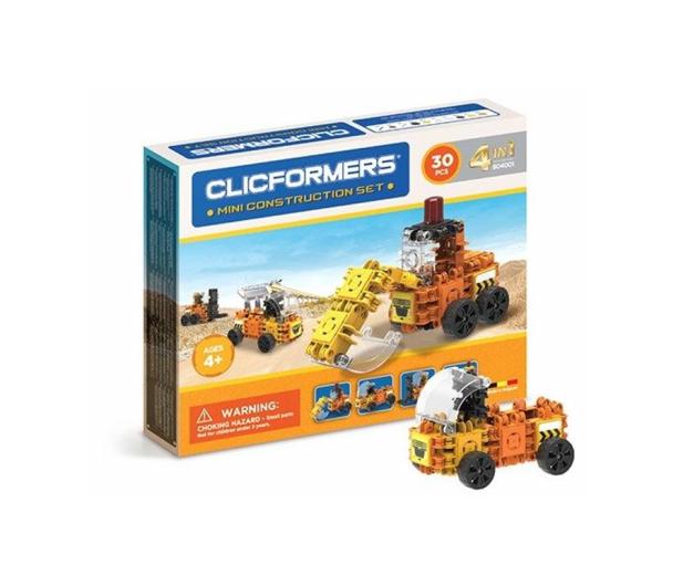 CLICS CLICFORMERS Maszyny budowlane 4w1 30el. 804001 - 524161 - zdjęcie