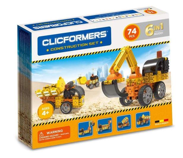 CLICS CLICFORMERS Maszyny budowlane 70el 802001 - 524210 - zdjęcie
