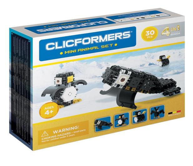 CLICS CLICFORMERS Arktyczne zwierzęta 4w1 30el. 804004 - 524255 - zdjęcie