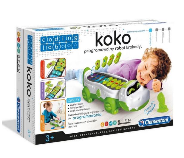 Clementoni  Koko programowalny robot Krokodyl 50108 - 524687 - zdjęcie