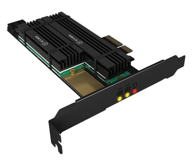 ICY BOX Karta rozszerzeń PCIe do SSD 2x M.2 Radiator - 507185 - zdjęcie
