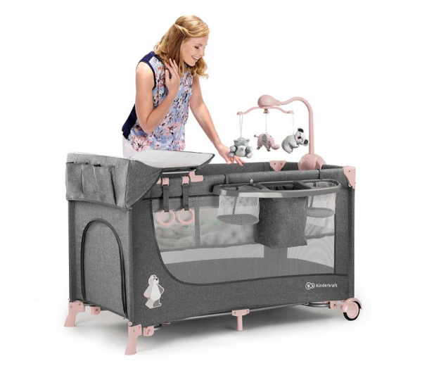 Kinderkraft Joy Pink + akcesoria - 389986 - zdjęcie 9