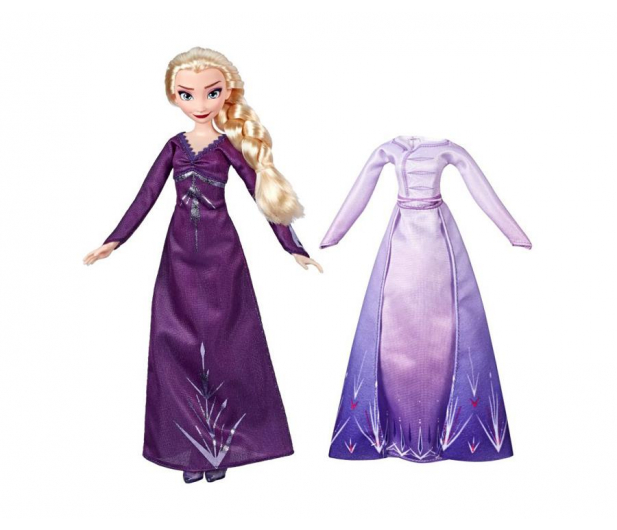 Hasbro Frozen 2 Stylowa lalka Elsa + ubranka - 518945 - zdjęcie