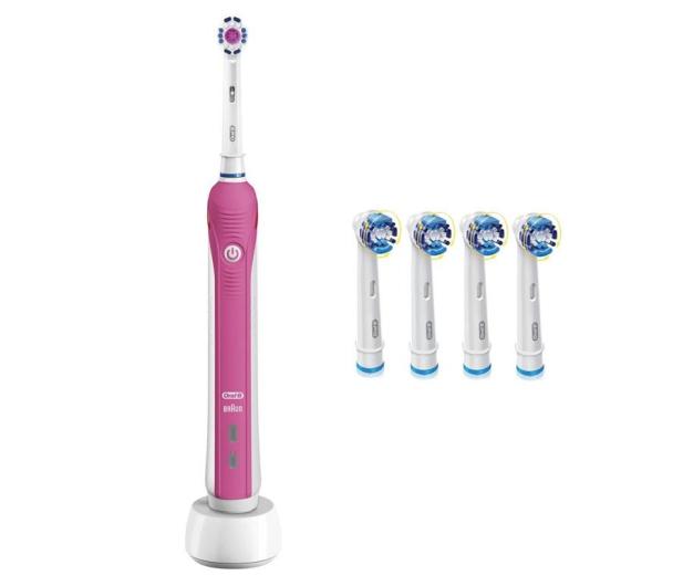 Oral-B Pro 750 Pink + końcówki EB20-4 - 527128 - zdjęcie