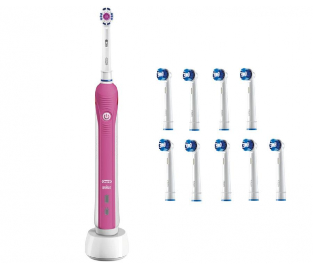 Oral-B Pro 750 Pink + końcówki EB20-9 - 527130 - zdjęcie