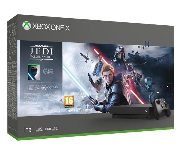 Microsoft Xbox One X + STAR WARS: Upadły Zakon - 527910 - zdjęcie
