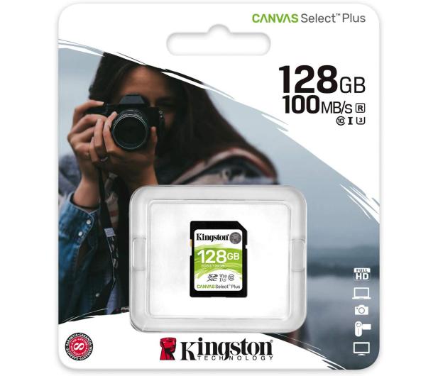 Kingston 128GB Canvas Select Plus odczyt 100MB/s - 529852 - zdjęcie 3