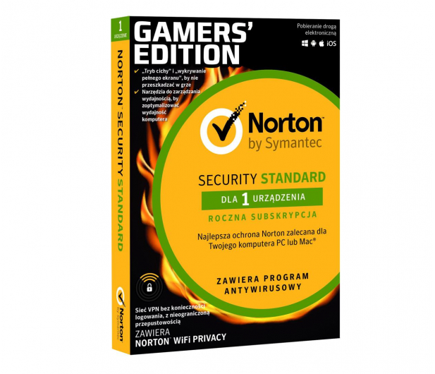 NortonLifeLock Security Standard Gamers Edition 1st.(12m.) - 525250 - zdjęcie