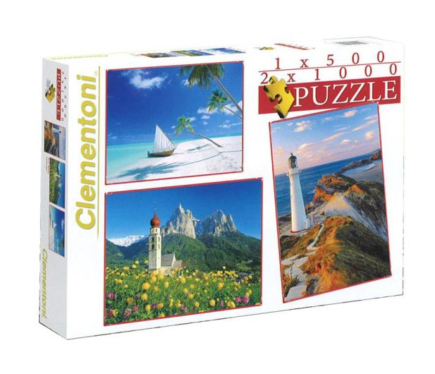 Clementoni Puzzle 1x500+2x1000 el. Krajobrazy - 478531 - zdjęcie