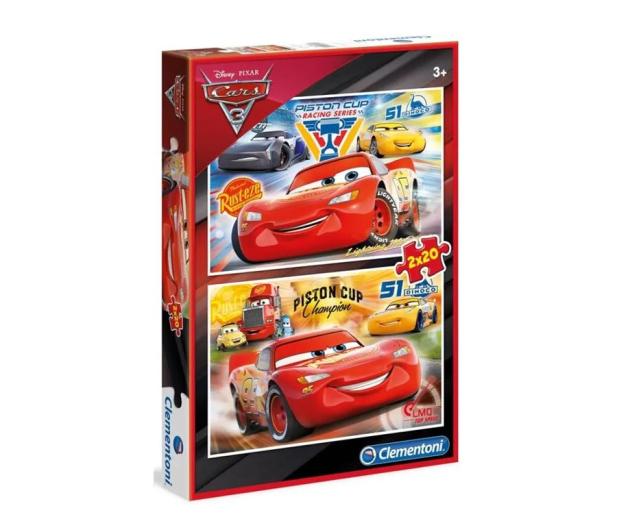 Clementoni Puzzle Disney 2x20 el. Cars 3 - 478641 - zdjęcie