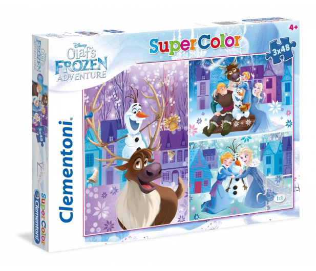 Clementoni Puzzle Disney 3x48 el Olaf's Frozen Adventure  - 478698 - zdjęcie